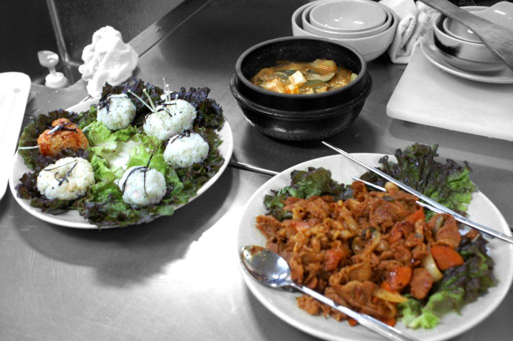 Finished Korean food - great group effort!