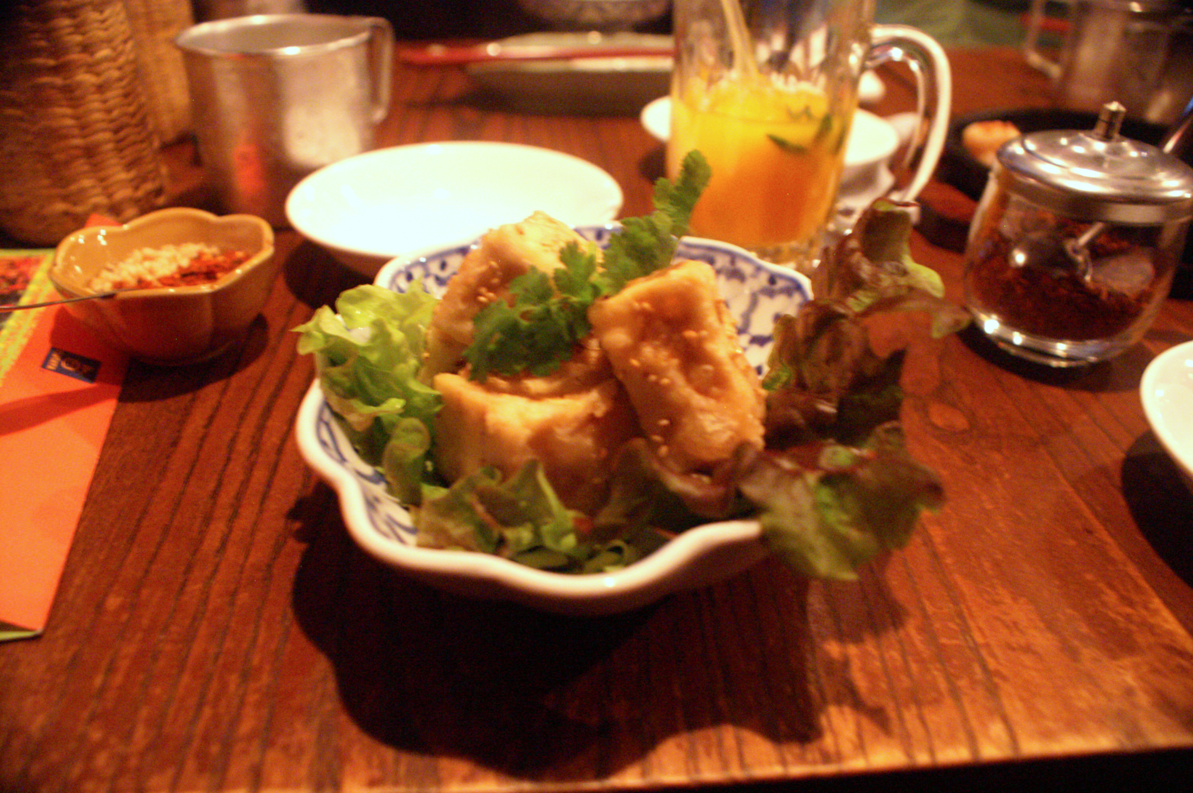 Meal at a Thai restaurant in Tokyo