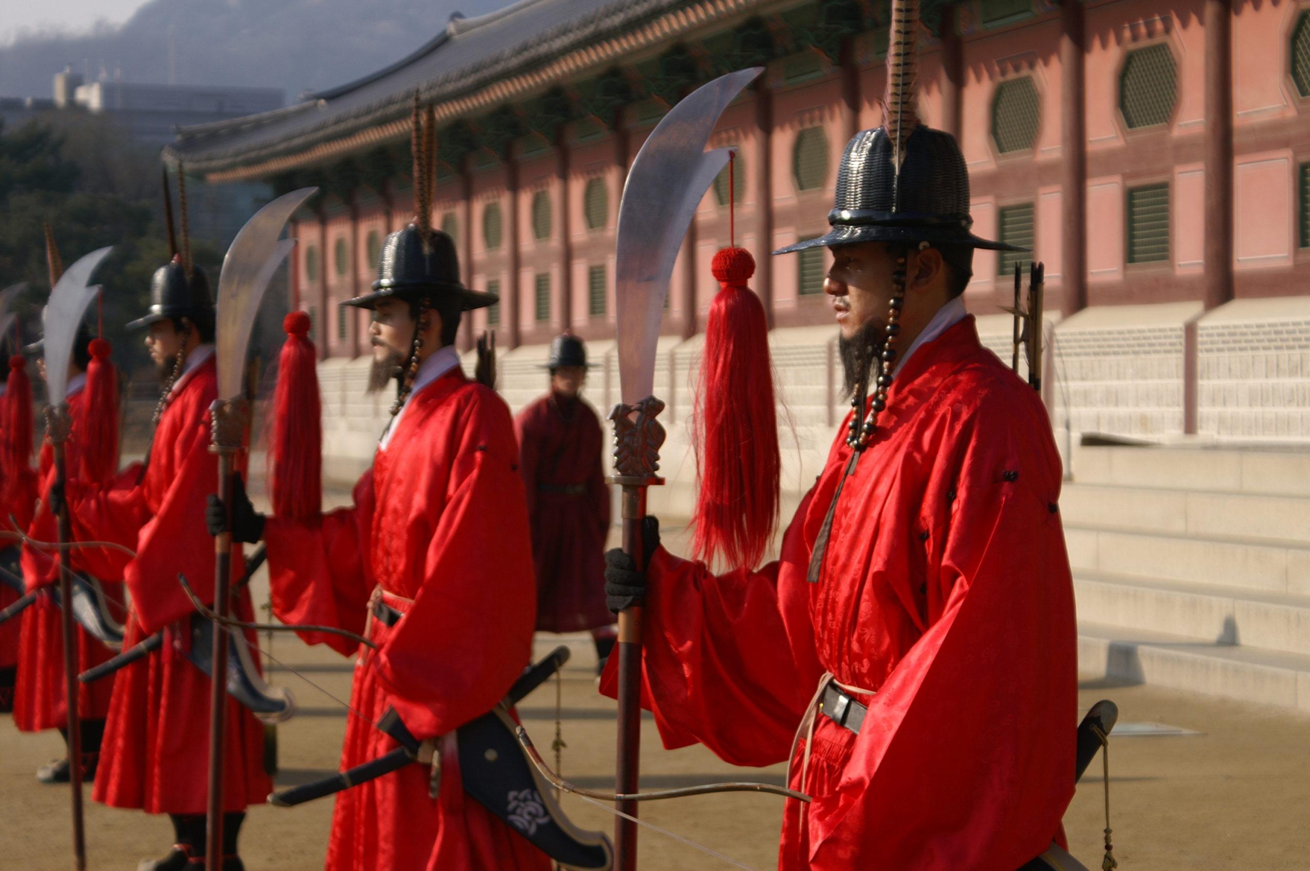 Guards at Gyeongbok