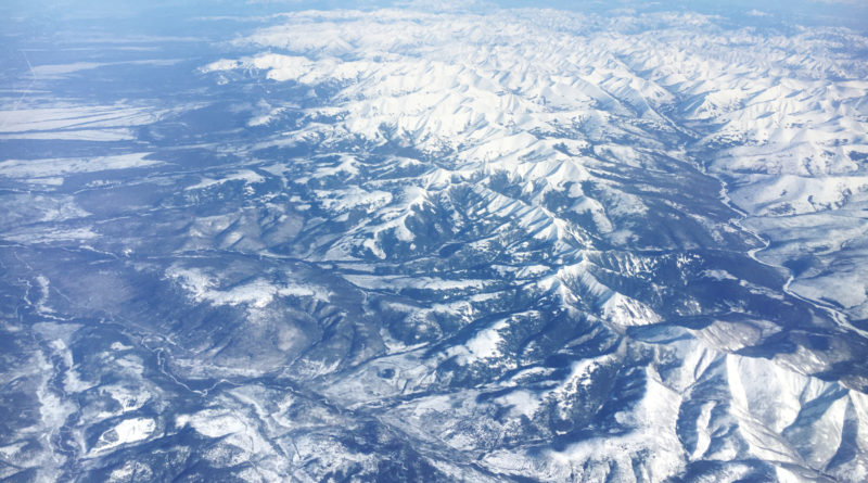 Mountains, view from a plane