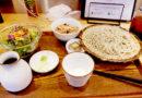 Lohas Raw Food restaurant set menu with soba noodles, rice & salad
