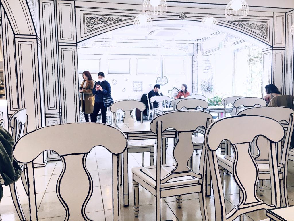 2D Cafe interior